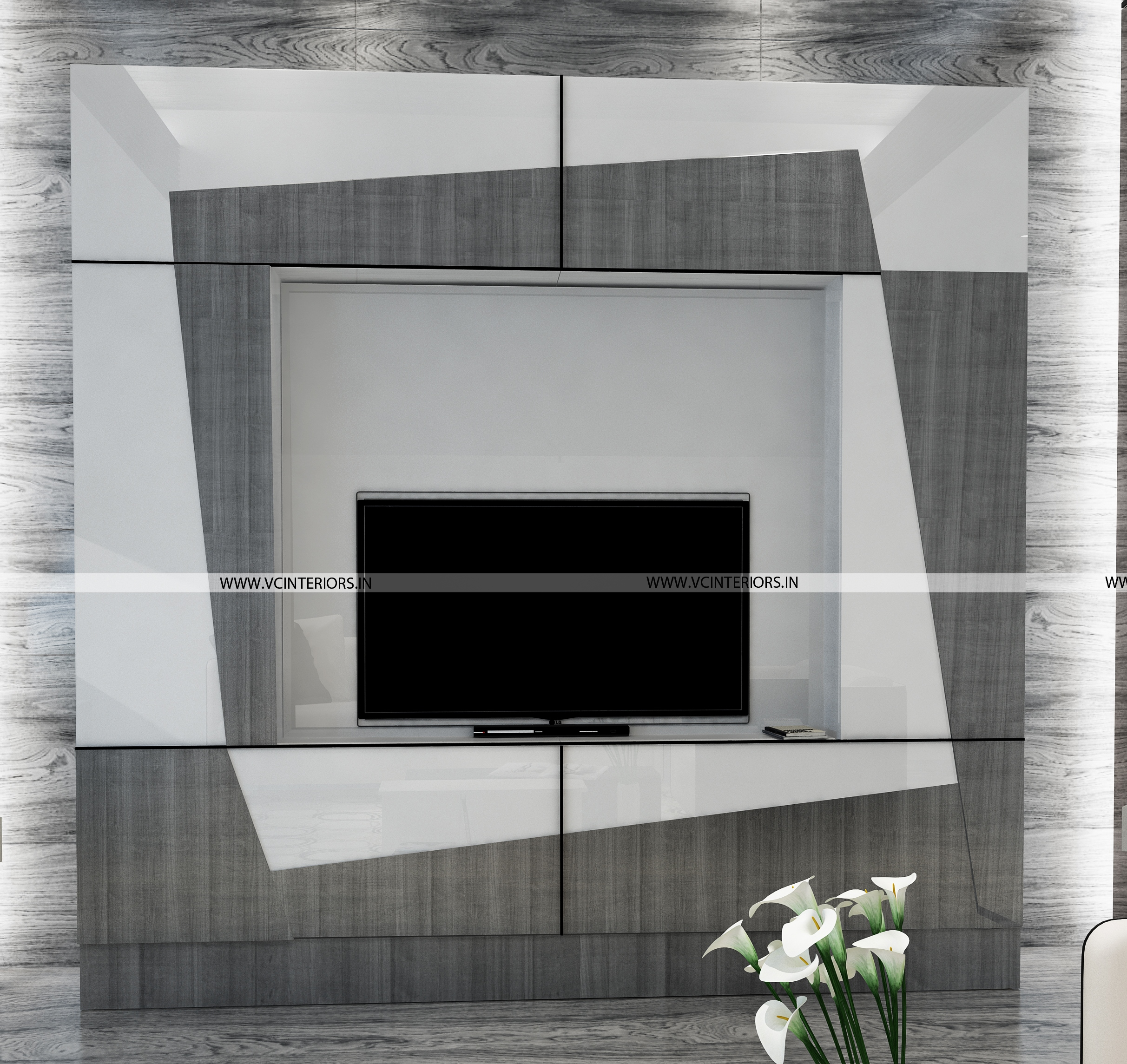 TV Unit Design - VC Interiors